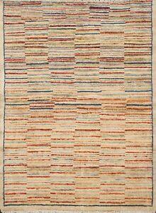 Striped Gabbeh Kashkoli Oriental Hand-knotted Area Rug Modern Wool 3'x3' Square