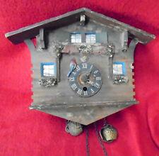 Unusual Bouncing Up & Down Pendulum German Chalet Cuckoo Clock
