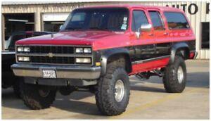 1981-1991 Blazer Bushwacker Black Front Fender Flares Free Shipping NEW