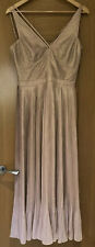 Karen Millen Metallic Shimmer Christmas Dress Pleated Midi Rose Gold Size 12