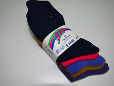 5 Pack MS Colourful plain Socks Navy Hot Pink Gold Lilac Purple Adults 4-7