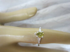 GORGEOUS ESTATE 14 KT GOLD 1.04 CTW FANCY YELLOW GREEN DIAMOND RING !!!!!!!