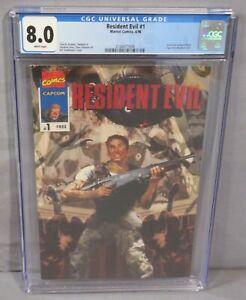 RESIDENT EVIL#1 (Capcom Rare Giveaway) CGC 8.0 VF Marvel Comics 1996 Video Game