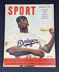 Sport Magazine August 1949 Jackie Robinson Brooklyn Dodgers Baseball Cover