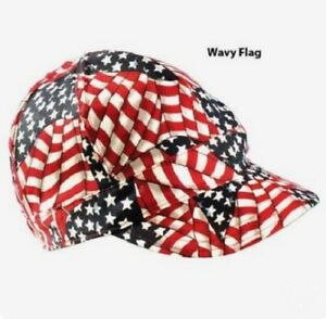 Fashion Style Welders Cap - Soldering Hat Cotton Canvas One Size Fits All Flag