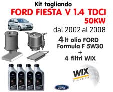 KIT TAGLIANDO FILTRI WIX + 4 LT OLIO FORD 5W30 FIESTA V 1.4 TDCI