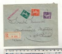 FRANCE-SWITZERLAND 1910 COGNAC REGISTERED ENVELOPE.
