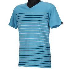 Oakley PRIMARY V STRIPE Tee Size M Medium Ocean Blue Mens Boys Cotton T-Shirt