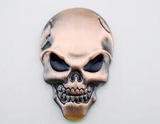 Skull Emblems Badge Decal Sticker 3D Metal Harley Motorcycle Tank Fender Chopper
