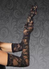 Ladies Leg Avenue Long Black Lace Gloves