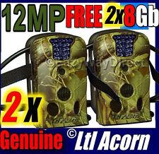 2 X Ltl Acorn 12MP IR Camera Trail HUNTING FARM HOME SECURITY 940NM FREE 8GB SD