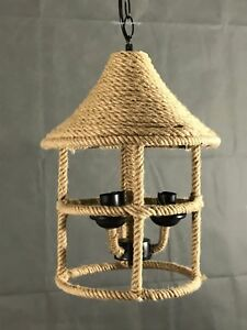 Ceiling Pendant Vintage Industrial Rope Light Chandelier Lamp New Stylish Modern