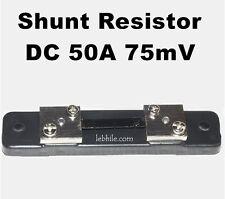 E50 DC 75mV 50A External Shunt Resistor for DC Voltmeter Ammeter Ampere Meter