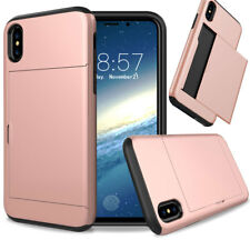 For Apple iPhone X / 10 Thin Shockproof Credit Card Holder Protective Case Cover