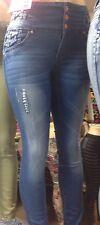 Sexy Women Denim Skinny Pants Stretchy Jeans High Waist Tights