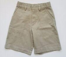 Austin Clothing Co Boys Khaki Shorts Size 5 Flat Front Adjustable Waist Uniform