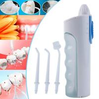 Kit Irrigateur Dentaire Oral Jet Eau Cure-dent Nettoyeur Hygiène 3pcs  Deco S