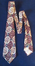 Vintage Beau Brummell Patterned Rayon Tie Necktie Wide Fatty
