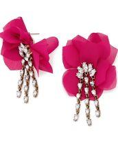 BaubleBar 'Amaryllis' Floral Drop Earrings Pink W/ Gold