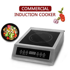 3500W Commercial Induction Cooker Hot Plate Cooktop Temperature 0-240℃ 0-180 min