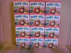 Sure Jell Premium Fruit Pectin LESS SUGAR 1.75 oz Per Box Lot of 12 Exp FEB 2022