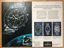 Omega Speedmaster Moon 1969 2 Page Advertisement Pub Ad Werbung