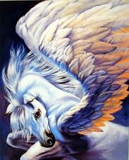 Mythical Pegasus Wings Sue Dawe Horse Fantasy Wall Art Print Picture (8x10)