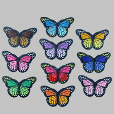 10 Embroidery Butterfly Sew On Patch Badge Embroidered Fabric Applique DIY Cute