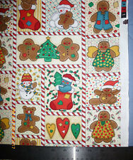 Gingerbread Cookies Christmas Fabric, Sold by the Yard
