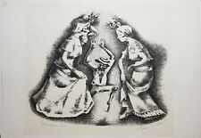 GEORGE BIDDLE-PAFA/CA Modernist-Hand Signed Lim.Ed Litho-Carnival in Rio