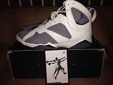 Nike Air Jordan 7 Retro Varsity Purple Flint Grey Basketball Shoes Size 15