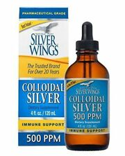 Natural Path Silver Wings Colloidal Silver 500 Ppm 4 oz Dropper