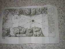 1757.plan de la ville de Portobelo en 1736.gravure carte.panama