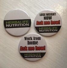 3 X Herbalife Nutrition 38mm Badges