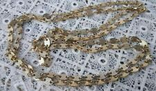 VINTAGE 50 INCH GOLD TONE CHAIN TEXTURED PATTERN LINK NICE RETRO