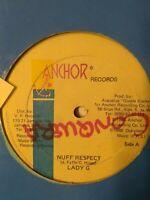 "Lady G-Nuff Respect 12"" Vinyl Single 1988"