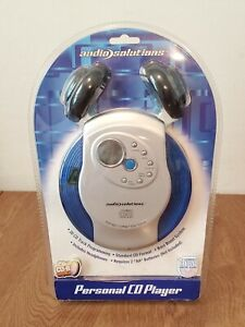 Audio Solutions Blue/Gray Personal CD Player w/ Headphones ATC-549 New Sealed