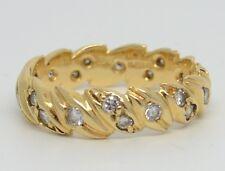 Beautiful Vintage 18ct Gold Diamond Eternity Ring