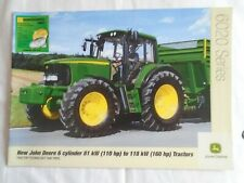 John Deere  110 to 160HP 6020 Series Tractors brochure Feb 2003 English text