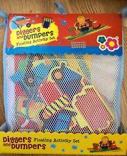 Meadow Kids Bath Time Fun Diggers & Dumpers x17 pieces Education Foam Stickers