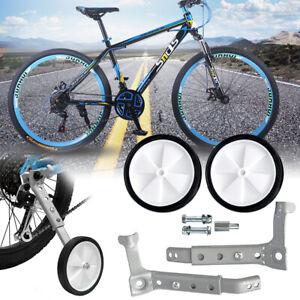 Adjustable Kids Children Mountain Variable Speed Bike Auxiliary Wheels Training