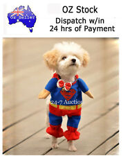 New Size 3/ Medium Lovely Pet Dog Cat SuperMan SuperHero Clothes Costume Outfit