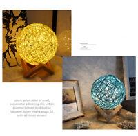Rattan Night Light Romantic Warm Fantasy Table Desk Bedside LED Lamp Home Decor