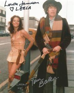 Dr Who cast Tom Baker Jameson and Leeson hand signed photo UACC AFTAL COA