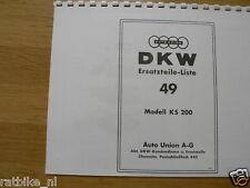 D0046 DKW---ERSATZTEILE-LISTE 49    KS200----MODEL