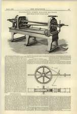 Máquina para enrollar 1884 Fairbair Tornillo pólvora Mills Kendal Luz Eléctrica