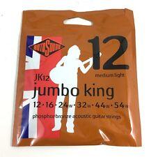 RotoSound Guitar Strings - Acoustic - Jumbo King - 12 Medium Light 12-54