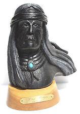 "RON SCHRODER –""WIND WARRIOR"" Native American SCULPTURE – Signed & Numbered"