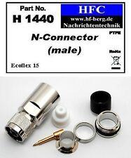 1 Pieza conector N para Ecoflex 15 Cable coaxial - 50 Ω (H1440)