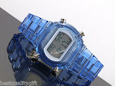 NEW-ADIDAS CANDY CLEAR BLUE ACRYLIC STRAP DIGITAL WATCH-ADH6507